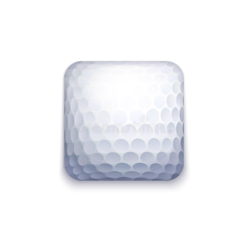 Golfballikone vektor abbildung