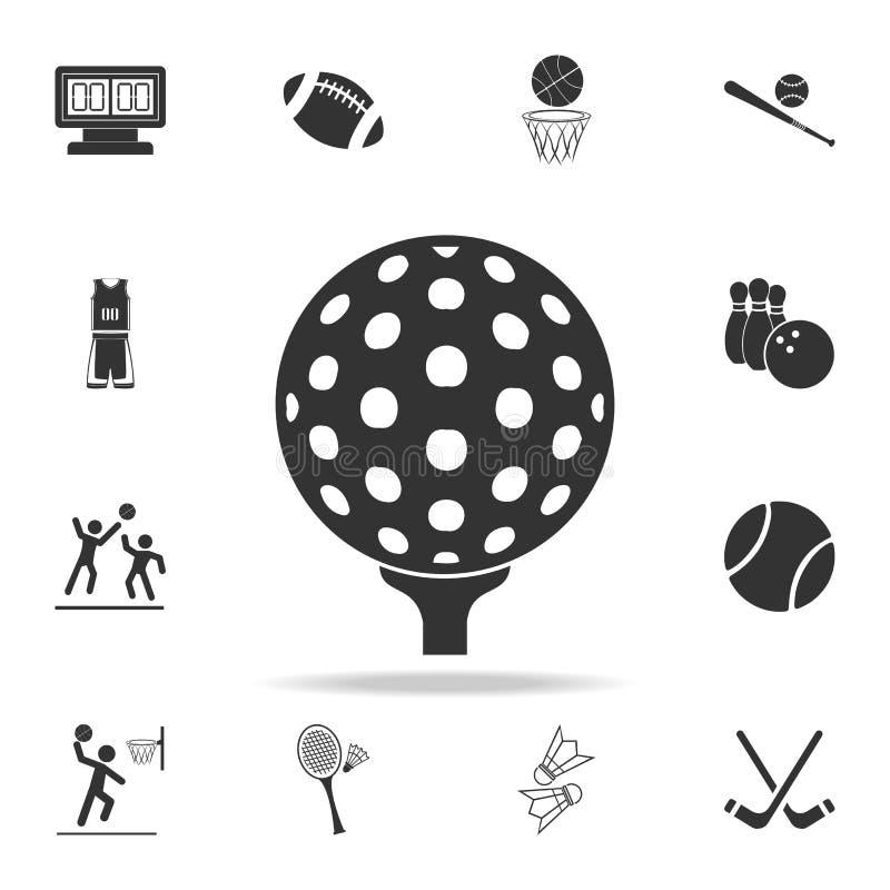 Golfballikone Ausführlicher Satz Athleten- und Zubehörikonen Erstklassiges Qualitätsgrafikdesign Eine der Sammlungsikonen für uns vektor abbildung