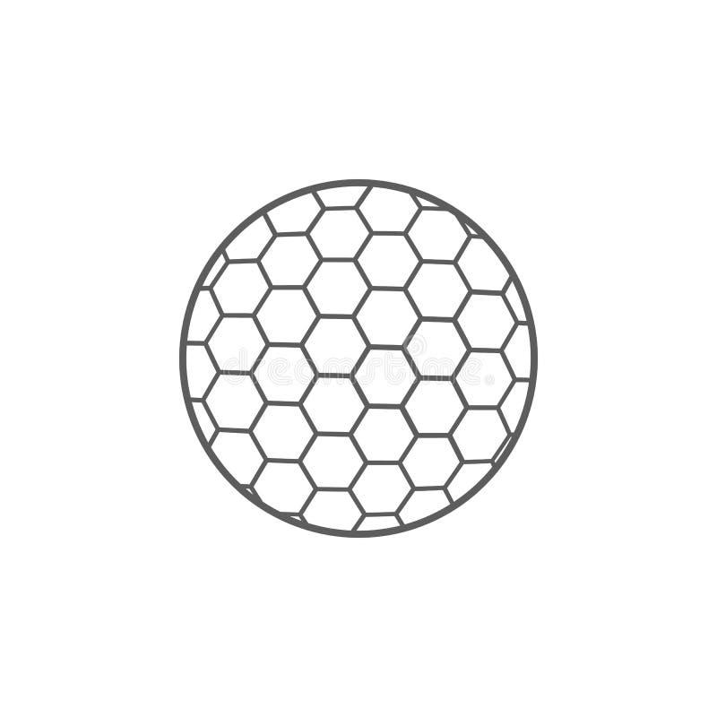 Golfballikone Element des Sports für bewegliche Konzept und Netz apps Ikone für Websitedesign und Entwicklung, APP-Entwicklung Pr vektor abbildung