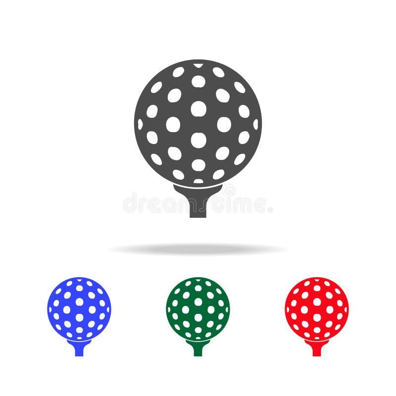 Golfballikonen Elemente des Sportelements in den multi farbigen Ikonen Erstklassige Qualitätsgrafikdesignikone Einfache Ikone für vektor abbildung