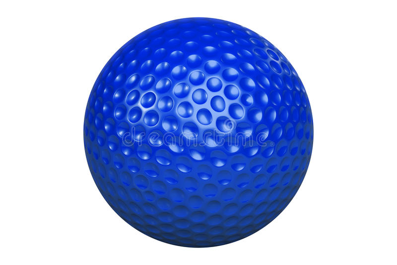 GolfballIsolatedBlue libre illustration