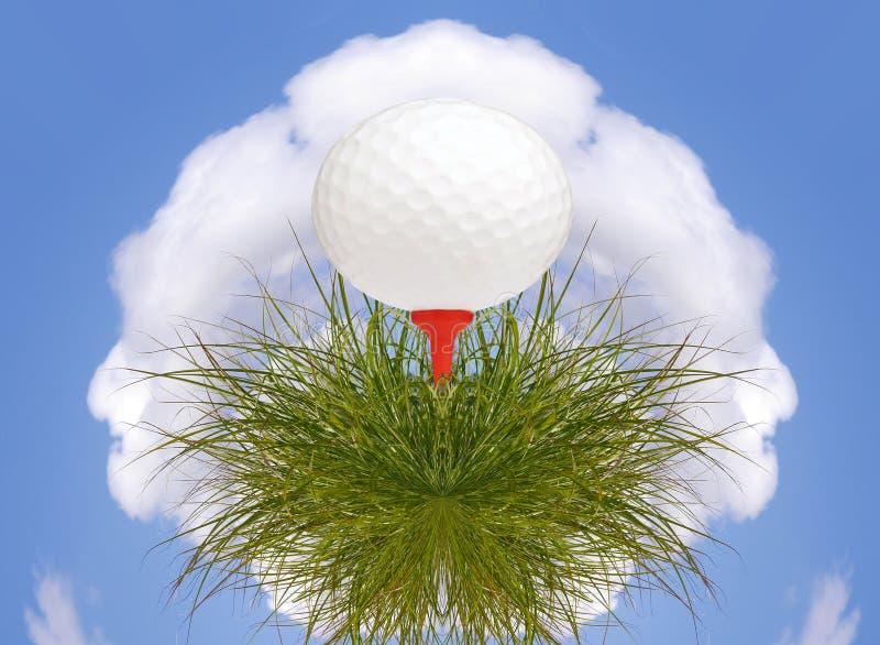 Golfballplanet stock abbildung