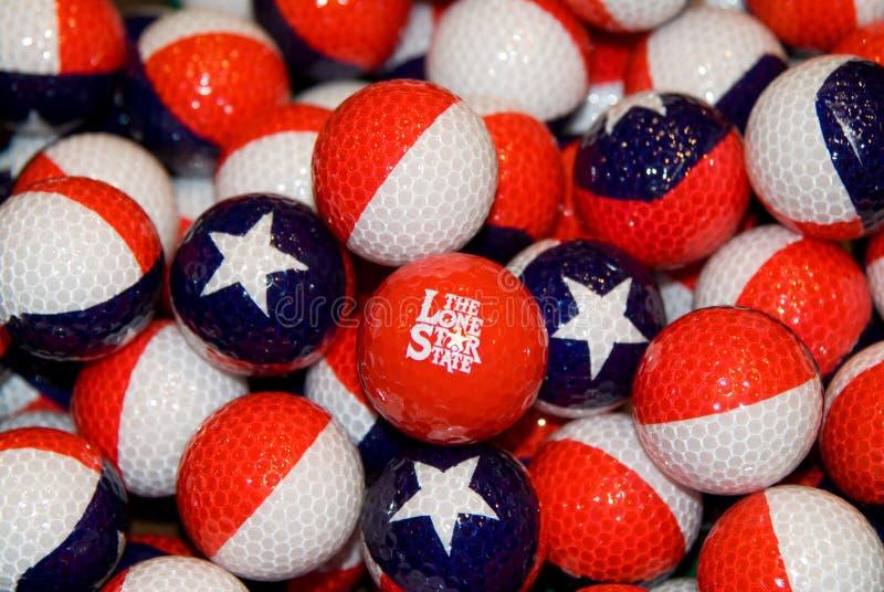 golfballs得克萨斯主题 免版税库存图片