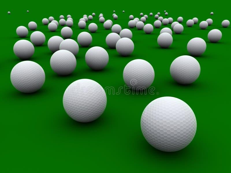 Golfballs vector illustration