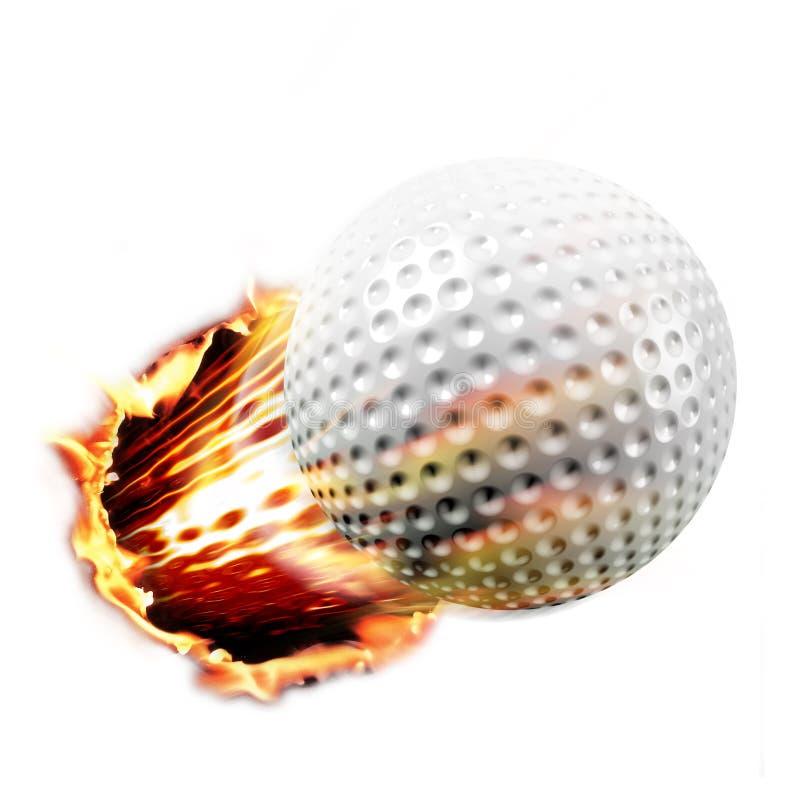 Golfballschuß stockfoto