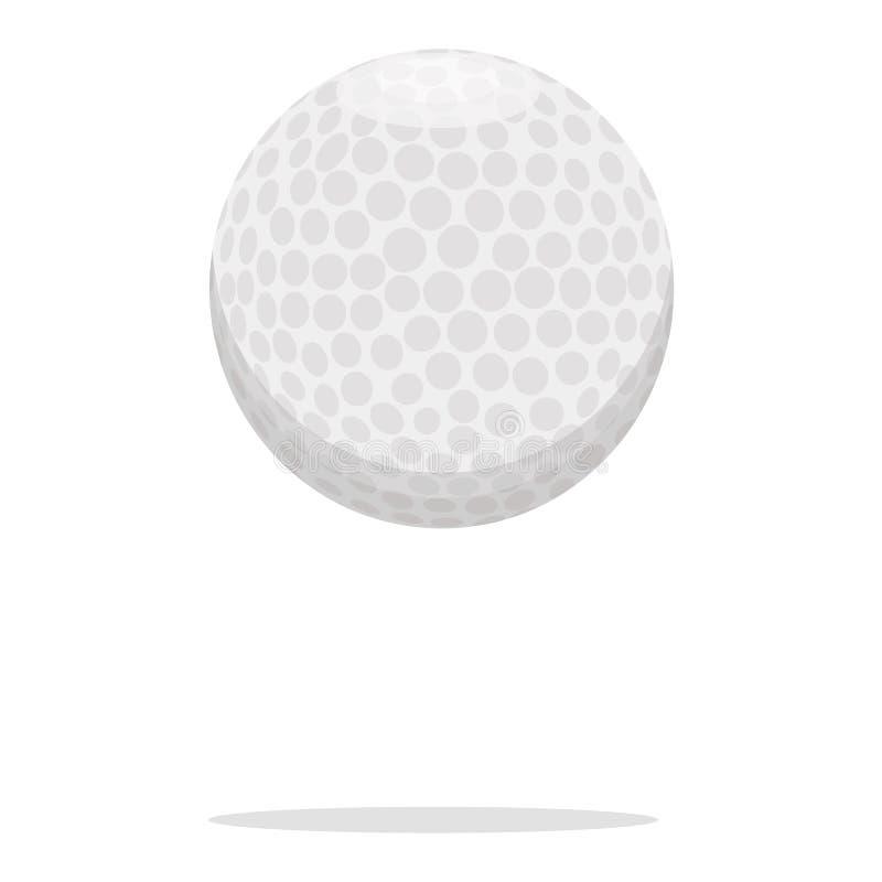 Golfballvektorikone Plastikballkonzeptillustration Realistischer Artentwurf des weißen Balls, bestimmt für Netz und App lizenzfreie abbildung
