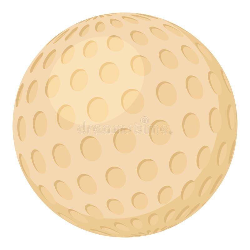 Golfbalpictogram, beeldverhaalstijl royalty-vrije illustratie