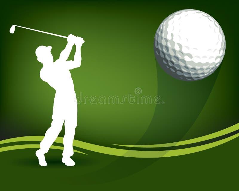 Golfbalspeler royalty-vrije illustratie