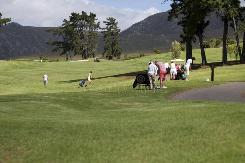 Golfbana arkivfoto