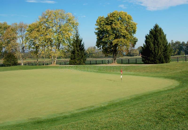 Golfbana arkivbild