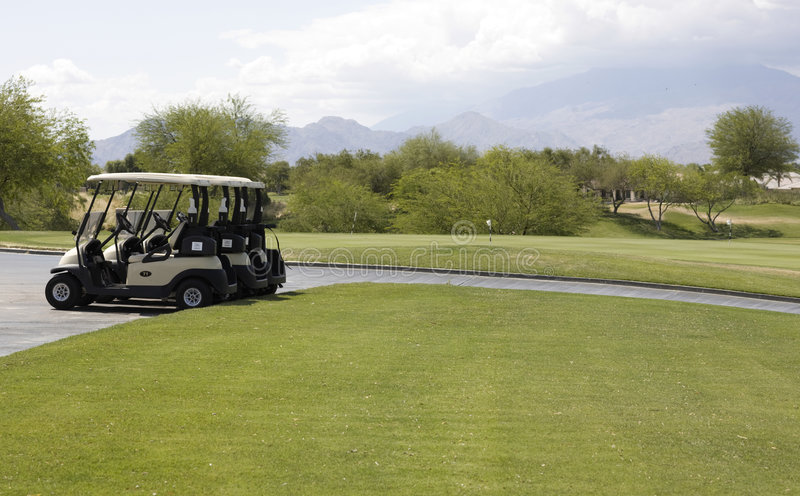 Golfbana för Gary spelarehäfte royaltyfria bilder