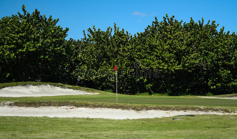 Golfbanaserie arkivfoto