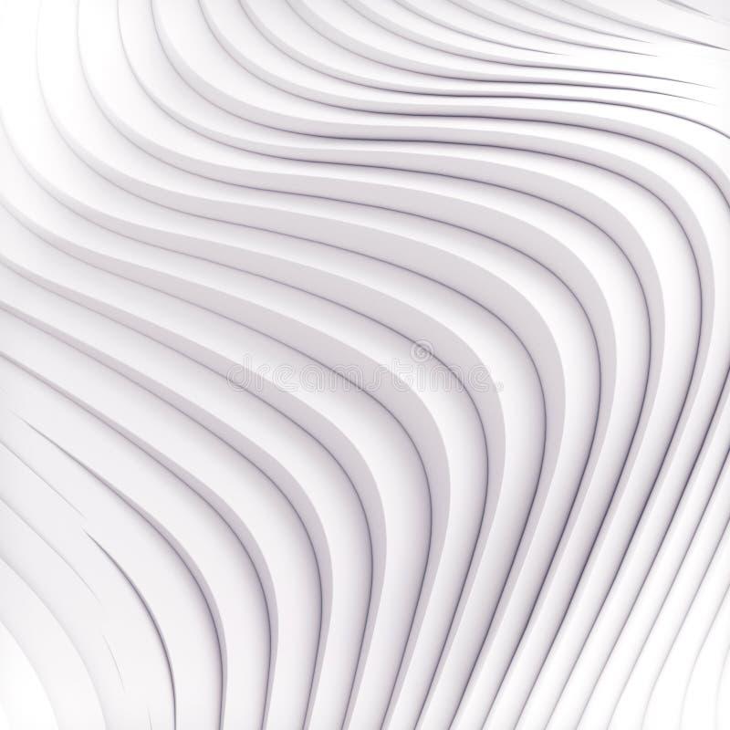 Golfband het abstracte achtergrondoppervlakte 3d teruggeven stock illustratie