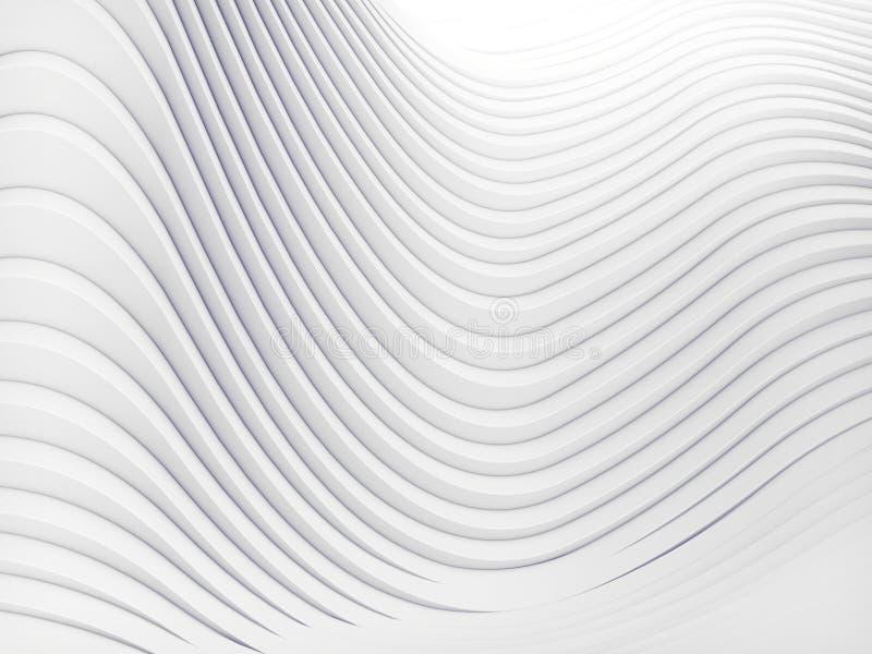 Golfband het abstracte achtergrondoppervlakte 3d teruggeven royalty-vrije illustratie