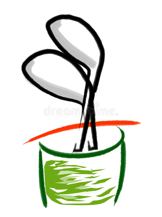 Golfbeutel stock abbildung