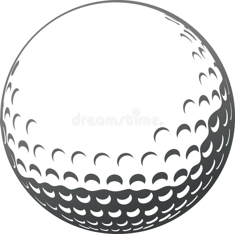 Golfboll royaltyfri illustrationer