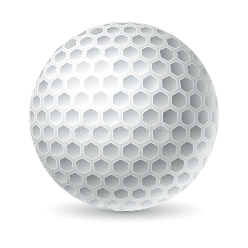 Golfboll stock illustrationer