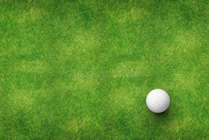 Golfboll på bästa sikt för gräs royaltyfri bild