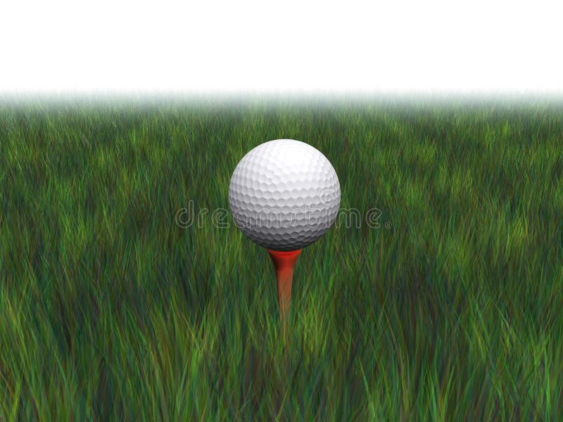 Golfboll på en utslagsplats arkivfoton
