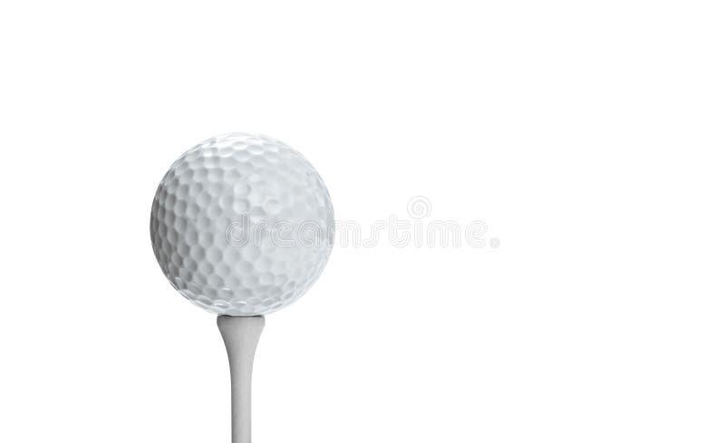 Golfboll på en utslagsplats som isoleras på vit bakgrund royaltyfria bilder