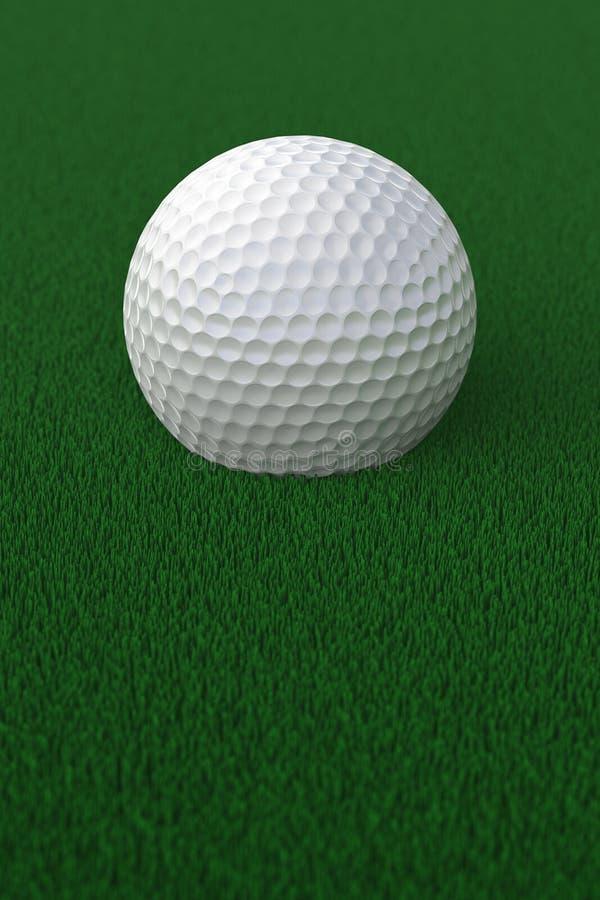 Golfboll på gräs arkivbild