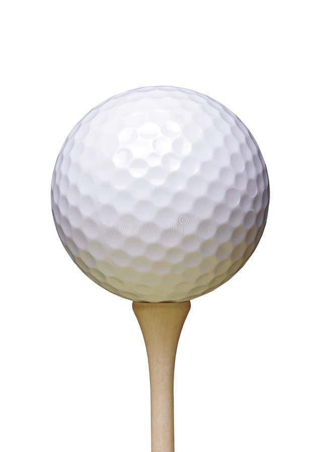 Golfboll på utslagsplats fotografering för bildbyråer