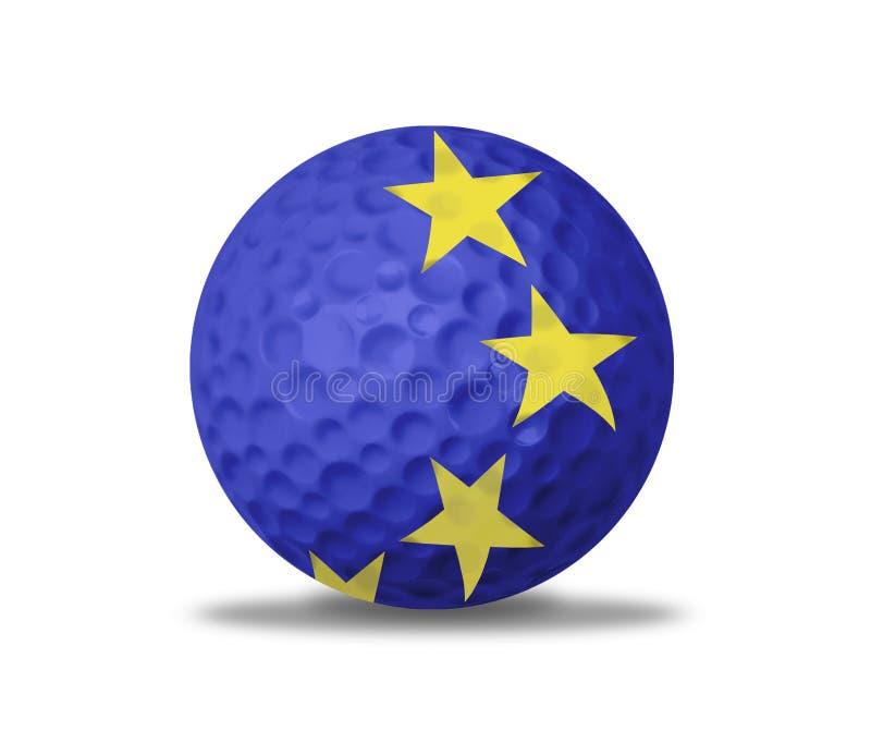 Golfboll på vit vektor illustrationer
