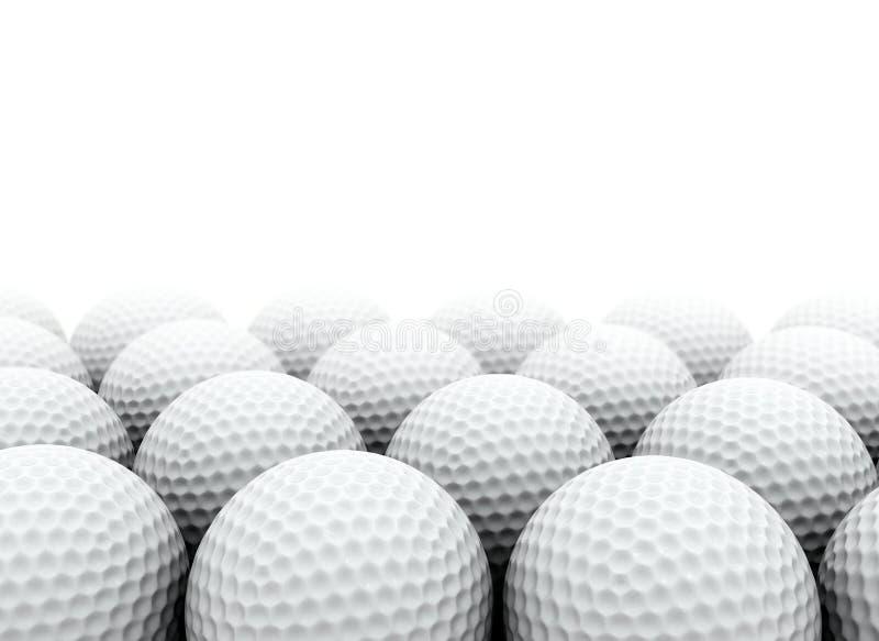 Golfbollar royaltyfri illustrationer