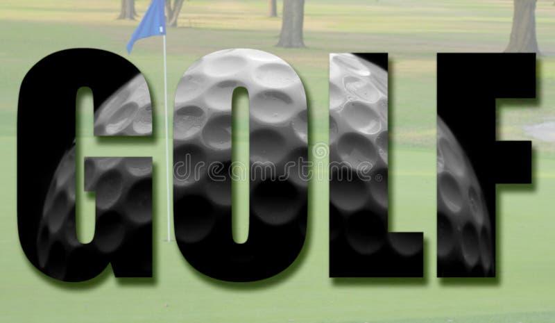 Golfbollbegrepp royaltyfri illustrationer
