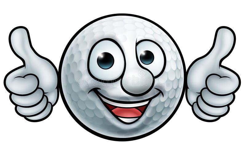 Golfbollmaskot royaltyfri illustrationer