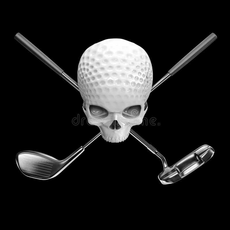 Golfbollskalle vektor illustrationer