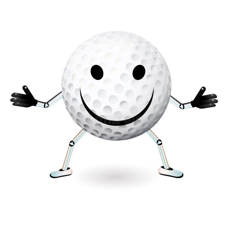 Golfbollsmiley stock illustrationer