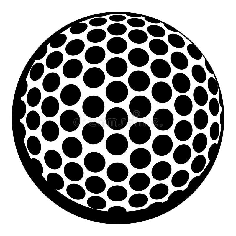 Golfbollsymbol, symbolstecknad film royaltyfri illustrationer