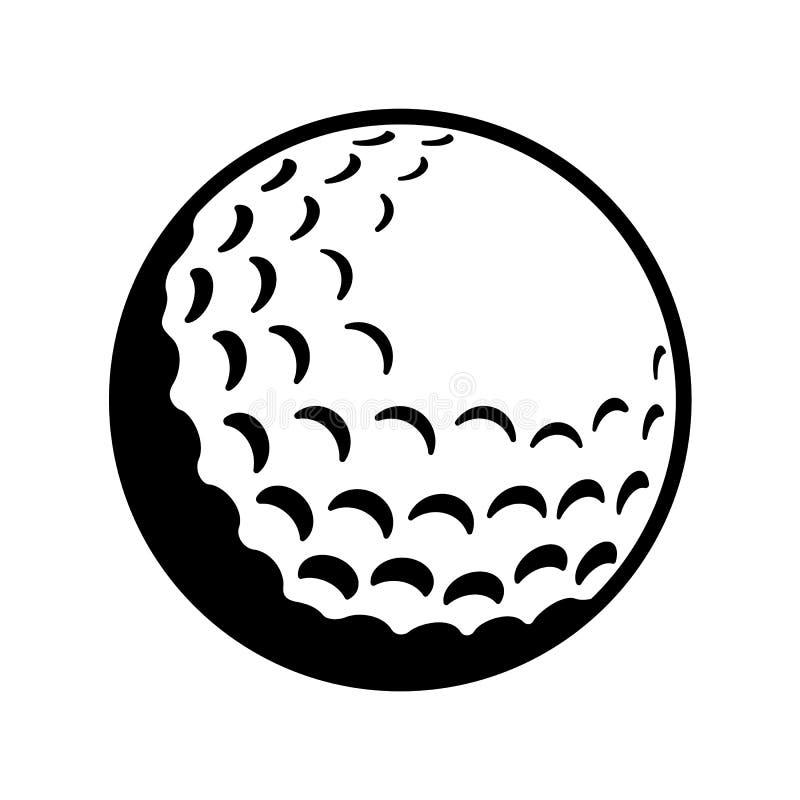 Golfbollsymbol stock illustrationer