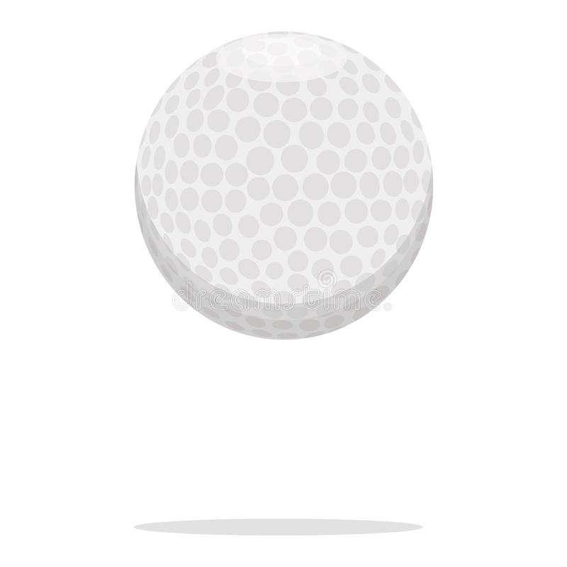 Golfbollvektorsymbol Plast- bollbegreppsillustration Realistisk stildesign för vit boll som planläggs för rengöringsduk och app royaltyfri illustrationer