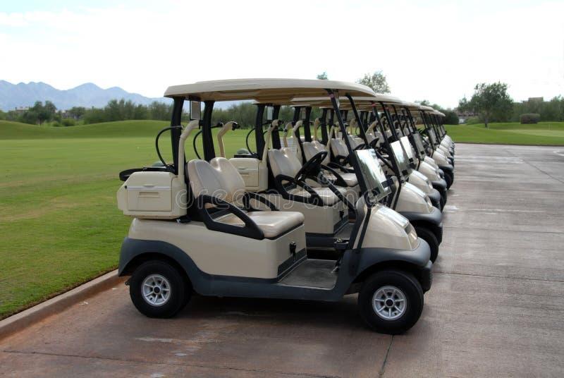 Golfcarts images libres de droits