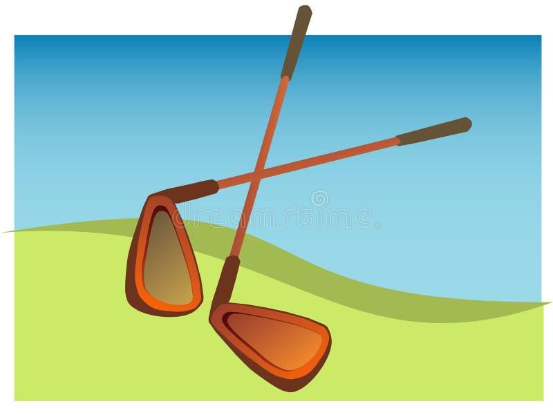 Golfclub royalty-vrije illustratie