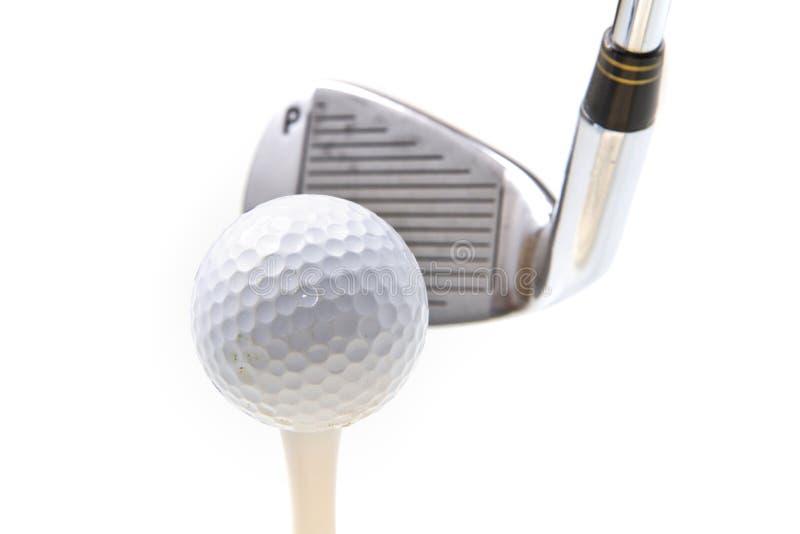 Golfclub en bal royalty-vrije stock afbeelding
