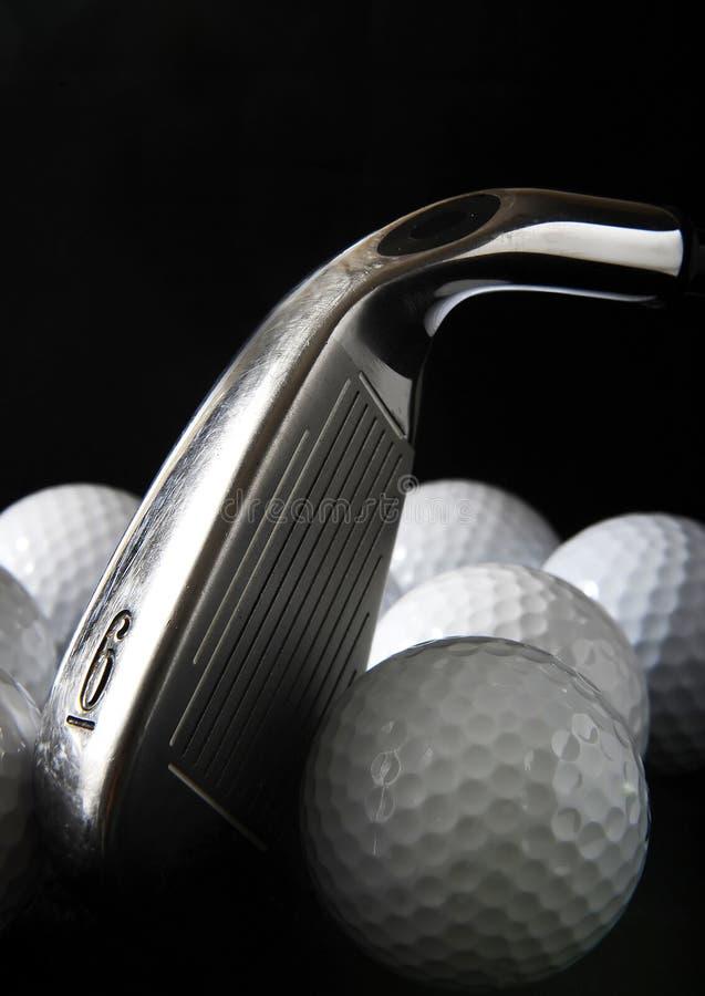 Golfclub en ballen stock foto's