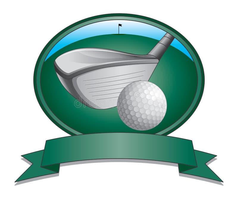 Golfclub en Balontwerp vector illustratie