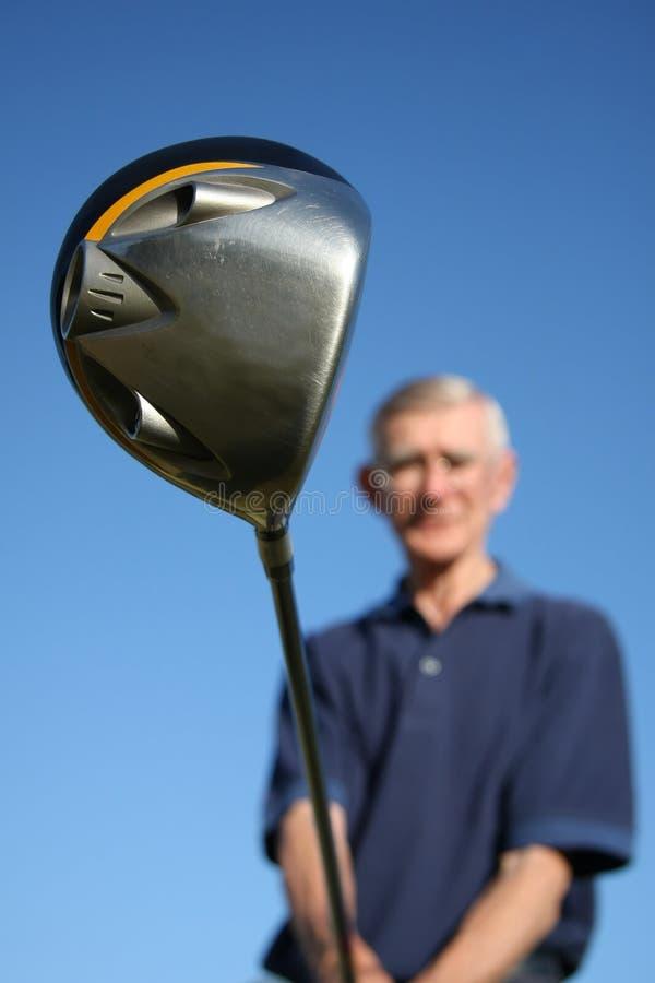 Golfclub und Mann stockfotos