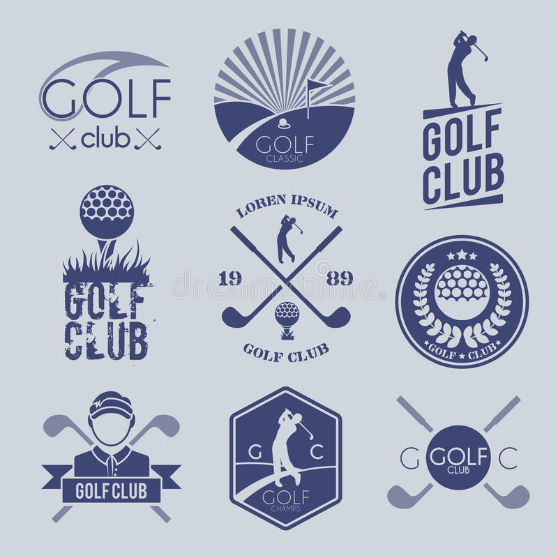 Golfclubetiket stock illustratie