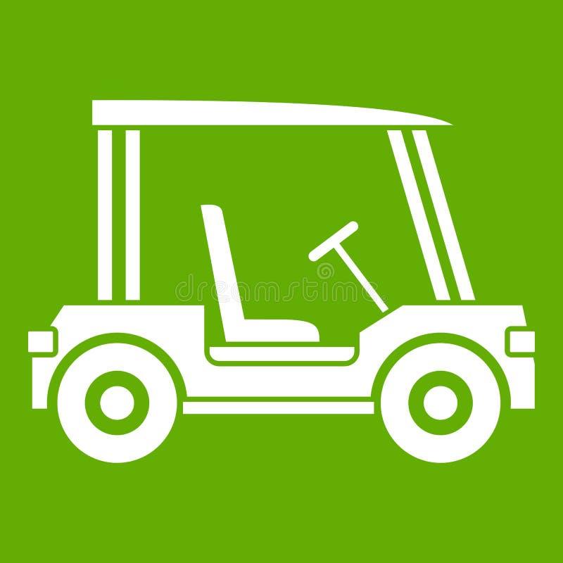 Golfclubfahrzeug-Ikonengrün stock abbildung