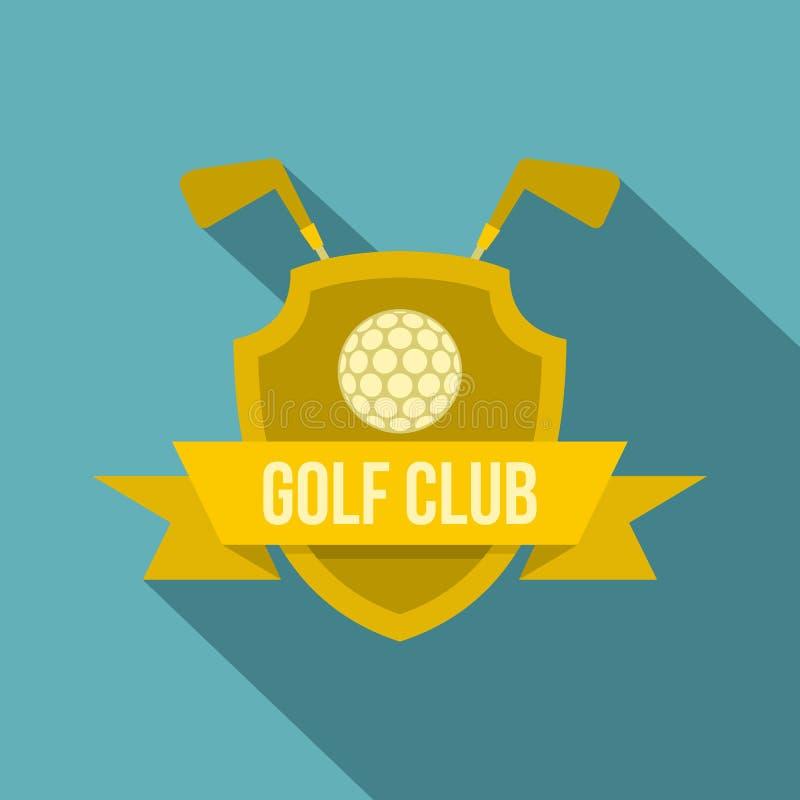 Golfclubpictogram, vlakke stijl stock illustratie