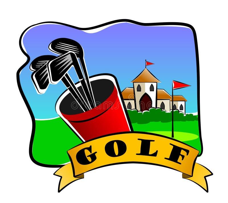 Golfclubs vector illustratie