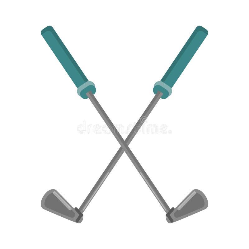 Golfclubs gekreuzt vektor abbildung