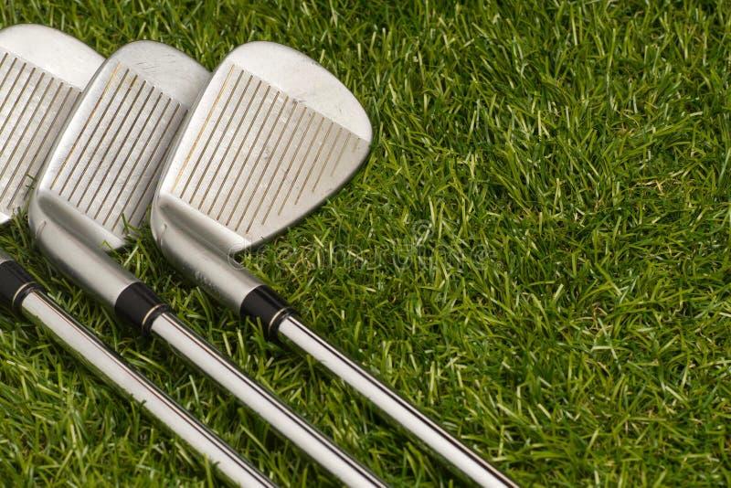 Golfclubs of golfijzers royalty-vrije stock afbeelding