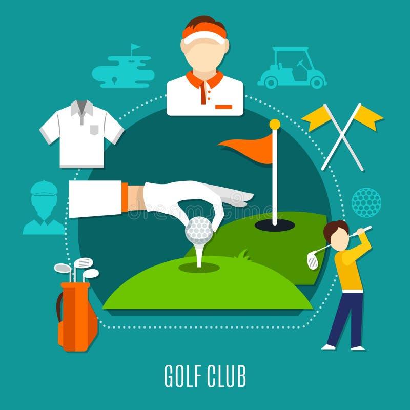 Golfclubsamenstelling royalty-vrije illustratie