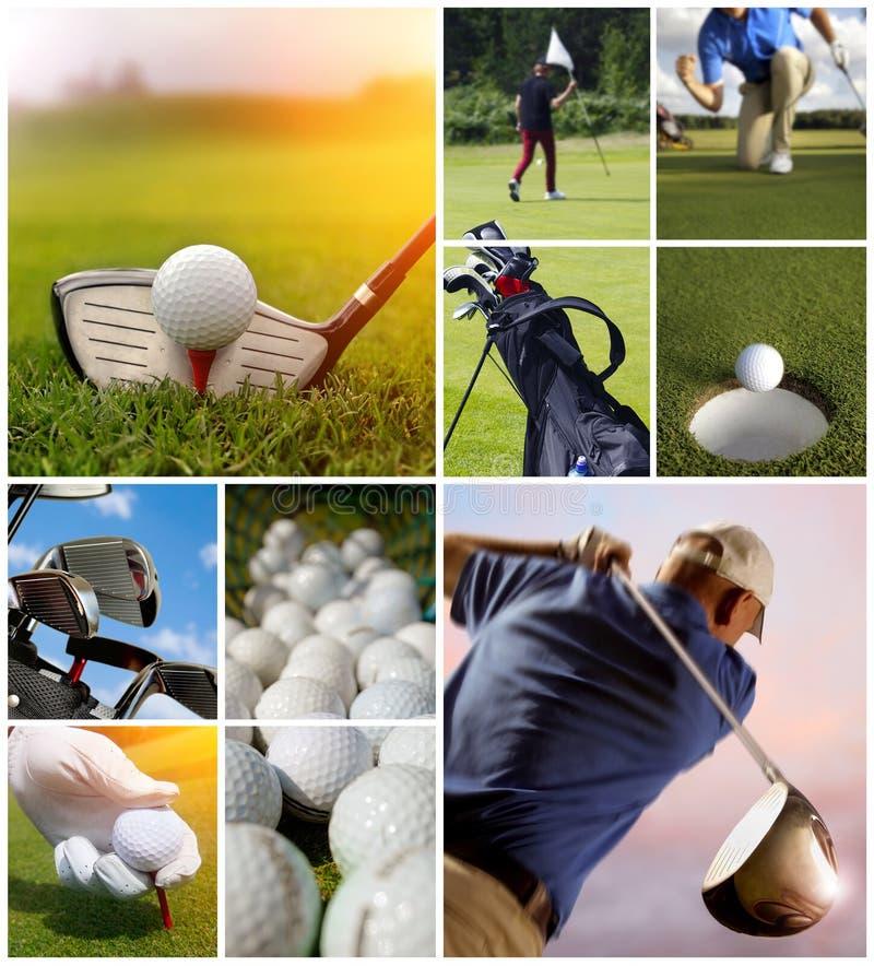 Golfconcept royalty-vrije stock foto's