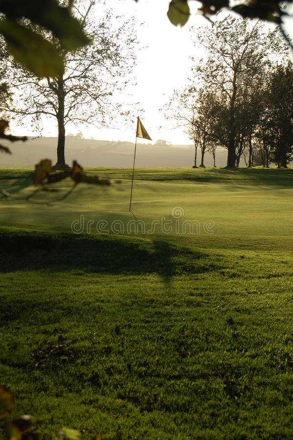 golfcourse royaltyfria foton